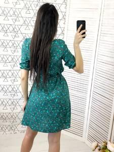 Платье короткое с принтом Х7050
