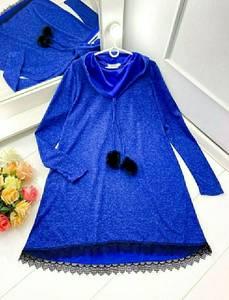 Платье короткое с длинным рукавом А47234