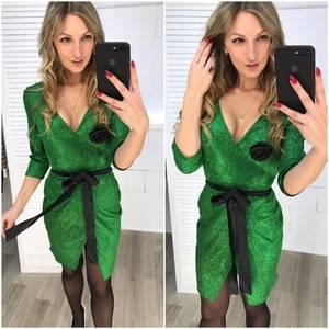 Платье короткое нарядное с рукавом 3/4 Ф7247