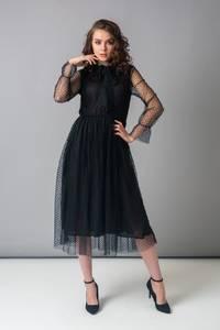 Платье длинное однотонное Х4762
