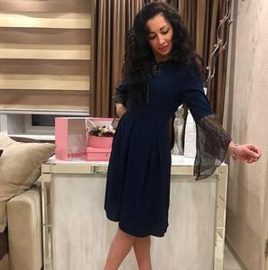 Платье короткое нарядное черное Х5604