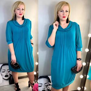 Платье короткое нарядное однотонное Х8103