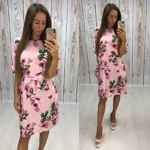 Платье короткое нарядное с принтом Х7486