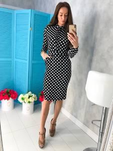 Платье короткое с длинным рукавом облегающее Х7481