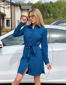 Платье короткое нарядное с длинным рукавом Ц4969