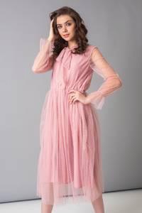 Платье длинное однотонное Х4763