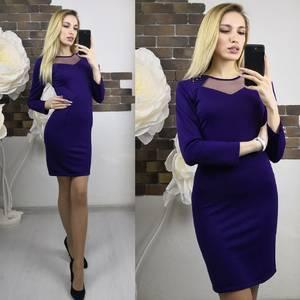Платье короткое с рукавом 3/4 облегающее Х7478