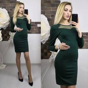 Платье короткое с рукавом 3/4 облегающее Х7479