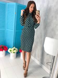 Платье короткое с длинным рукавом облегающее Х7482