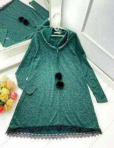 Платье короткое с длинным рукавом А47236
