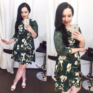 Платье короткое нарядное с принтом Х5047