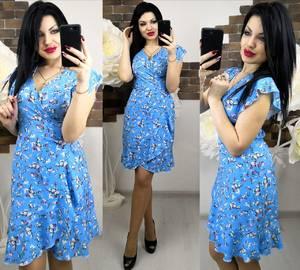 Платье короткое с принтом летнее Х6258
