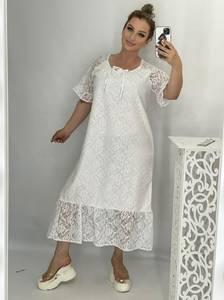 Платье длинное белое А49212