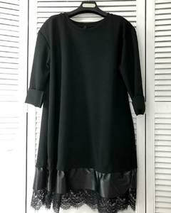Платье короткое черное А49213