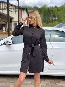 Платье короткое нарядное с длинным рукавом Ц4971