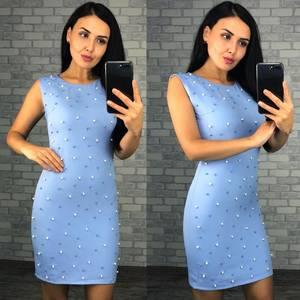 Платье короткое однотонное летнее Ф4075