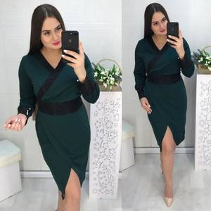 Платье короткое с длинным рукавом нарядное Х1614