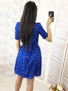 Платье с принтом короткое Х7052