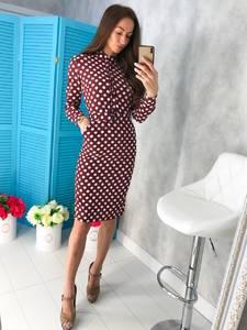 Платье короткое с длинным рукавом облегающее Х7483
