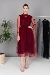 Платье длинное однотонное Х4766