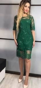 Платье короткое вечернее однотонное Х3427