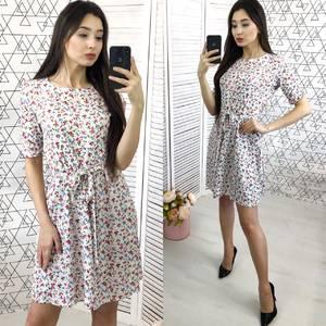 Платье короткое с принтом Х7051