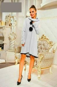 Платье короткое с длинным рукавом А47238
