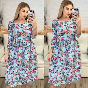 Платье короткое с рукавом 3/4 современное Х8222