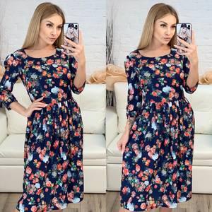 Платье короткое с рукавом 3/4 современное Х8223
