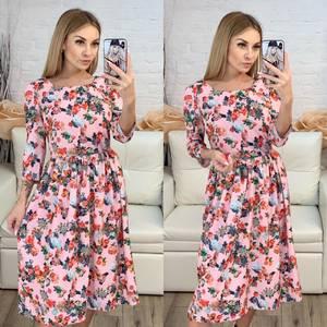 Платье короткое с рукавом 3/4 современное Х8224