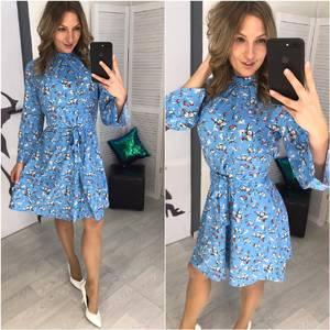 Платье короткое с принтом Х7054