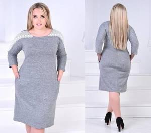 Платье короткое нарядное с кружевом Ф4368