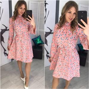 Платье короткое с принтом Х7055
