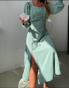 Платье длинное однотонное А53996