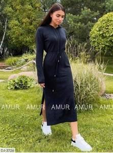 Платье длинное с длинными рукавами А54034