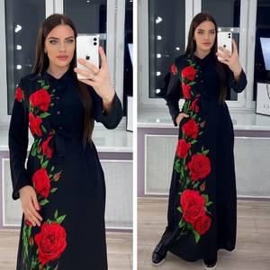 Платье длинное с принтом Я3918