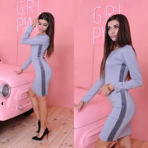 Платье короткое повседневное облегающее Ф3571