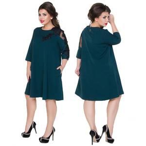 Платье короткое нарядное с кружевом Х6197