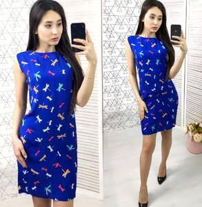 Платье короткое с принтом летнее Х8810