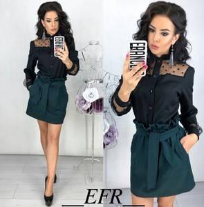 Блуза с длинным рукавом Ц4324
