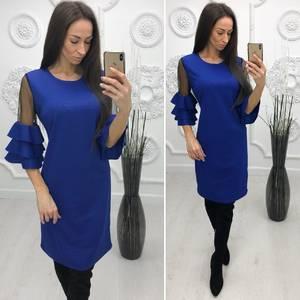 Платье короткое нарядное элегантное Ф4258