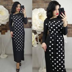 Платье длинное с длинными рукавами нарядное Х6652