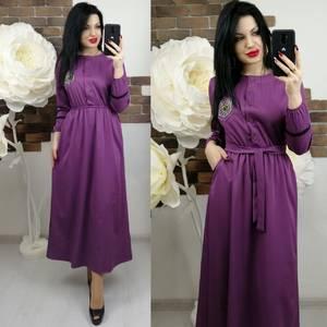 Платье длинное с длинными рукавами нарядное Х6653