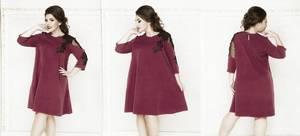 Платье короткое нарядное с кружевом Х6198