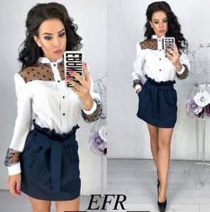 Блуза с длинным рукавом Ц4325