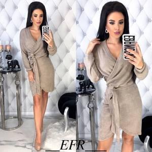 Платье вечернее нарядное с длинным рукавом облегающее Ш9317