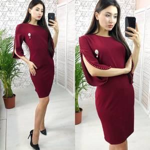Платье короткое нарядное однотонное Х6638
