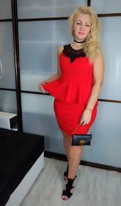 Платье короткое вечернее красное Х3430