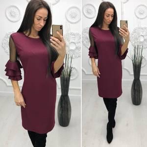 Платье короткое нарядное классическое Ф4261