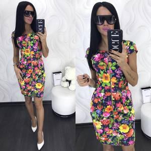 Платье короткое нарядное современное Х8639